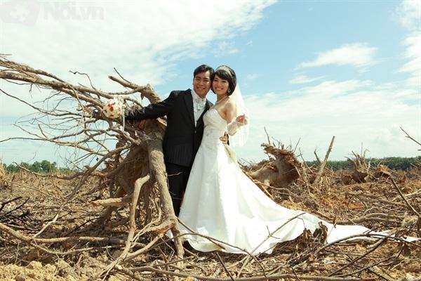 cô dâu và chú rể hạnh phúc