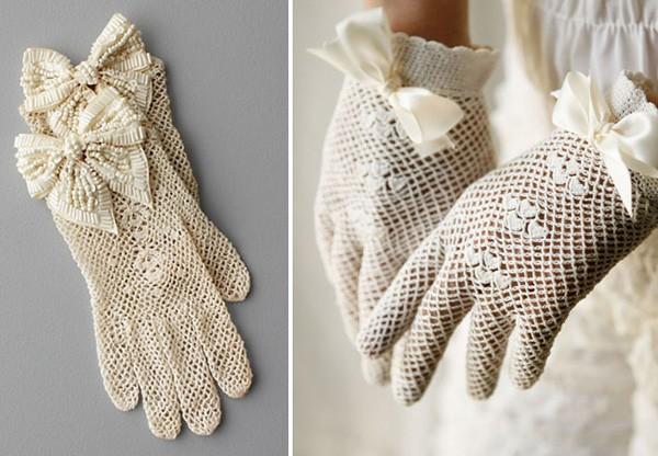 găng tay cho cô dâu