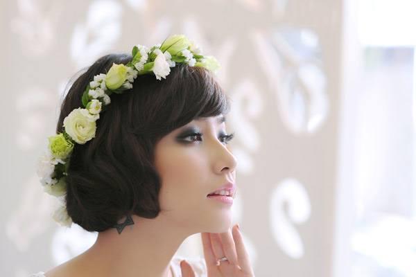 mái tóc cô dâu đẹp