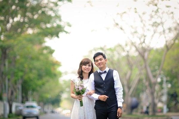 lễ cưới vào mùa thu