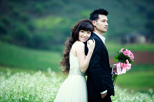vest chú rể - tiệc cưới hương sen