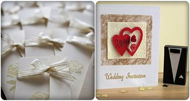 tấm thiệp cưới ấn tượng