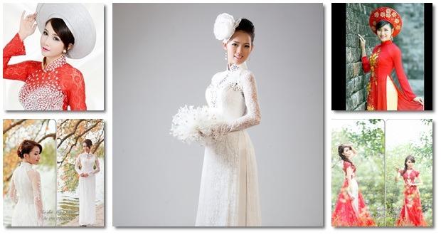 áo dài cô dâu - Hương Sen