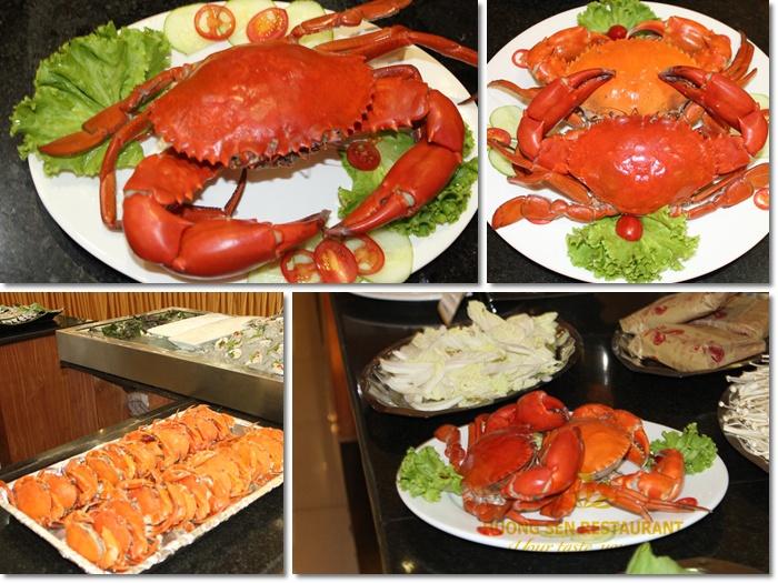 cua biển ngon tại nhà hàng Hương Sen