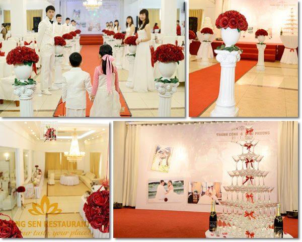 Hương Sen tổ chức tiệc cưới