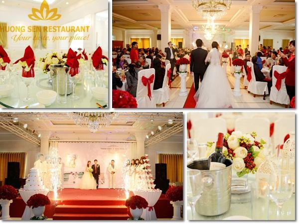 tổ chức đám cưới tại Hương Sen