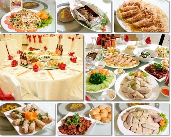bàn tiệc Hương Sen