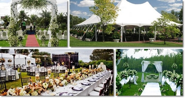 đám cưới ngoài trời