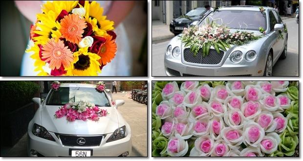 hoa ngày cưới