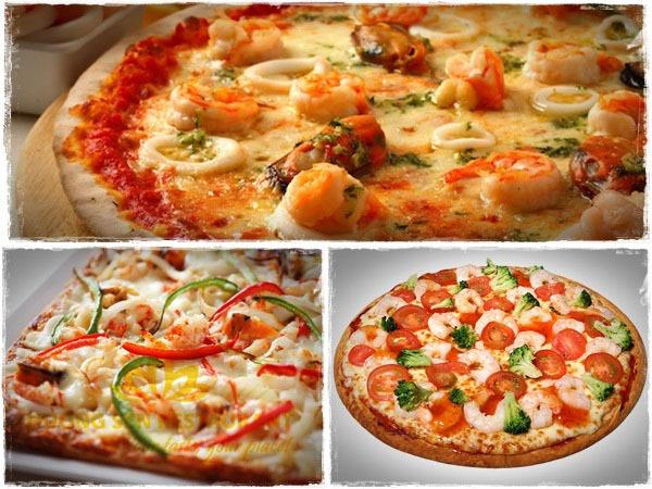 pizza nhân hải sản Hương Sen