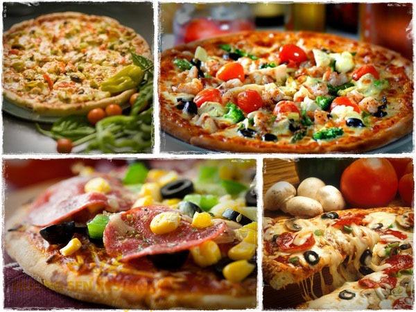 bánh pizza thập cẩm Hương Sen