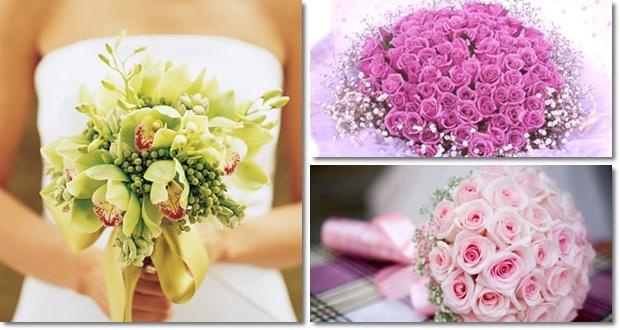 hoa tay ngày cưới