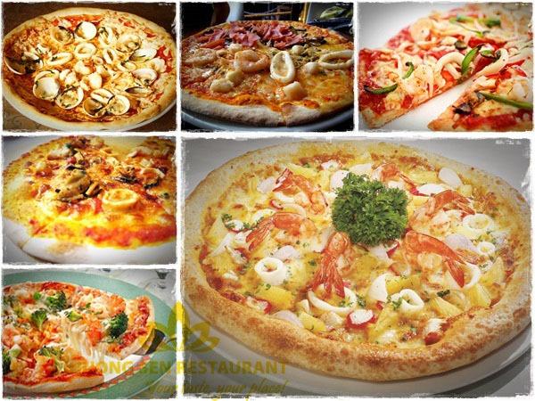 bánh pizza hải sản Hương Sen