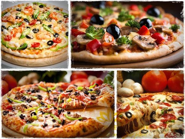 thưởng thức pizza thập cẩm Hương Sen