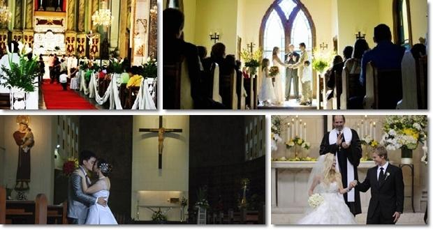 lễ cưới trong nhà thờ