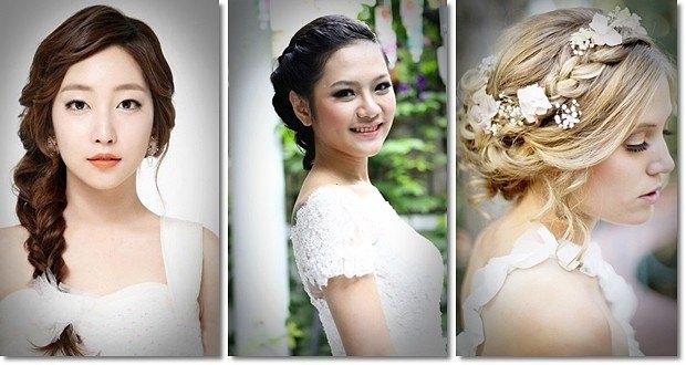 mái tóc đẹp cho cô dâu