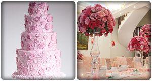 đám cưới màu hồng ấn tượng