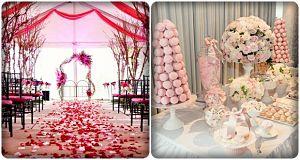 đám cưới màu hồng lãng mạn