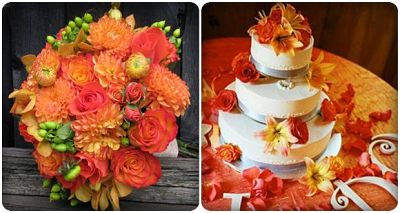 đám cưới màu cam