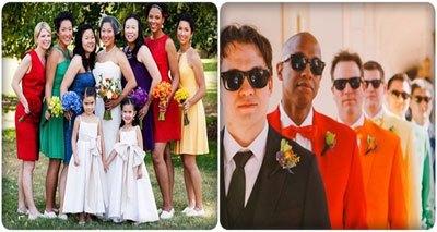 đám cưới cầu vồng