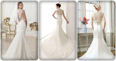 áo cưới lưng ren