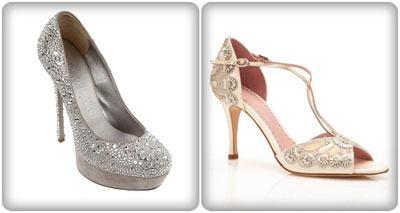 giày cưới đính đá