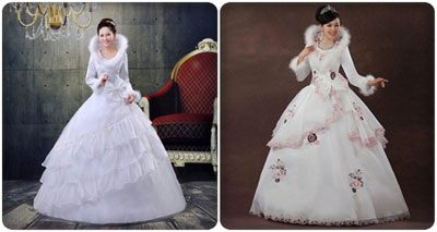 váy cưới mùa đông