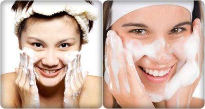 rửa mặt đúng cách