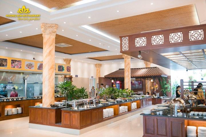 buffet hải sản cao cấp Hương Sen