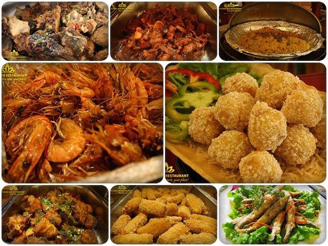 Một số món buffet hải sản chính