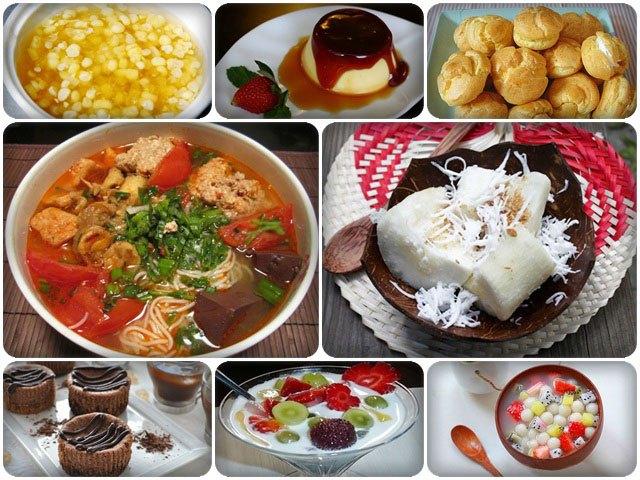Các món tráng miệng tại Hương Sen