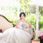 Cách che bụng bầu giúp cô dâu gợi cảm khi mặc váy cưới