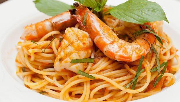 Mỳ Ý sốt tôm