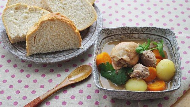 món gà nấu pate