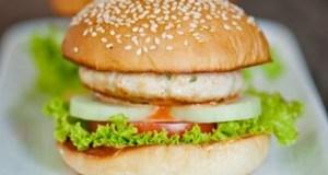 bánh hamburger gà