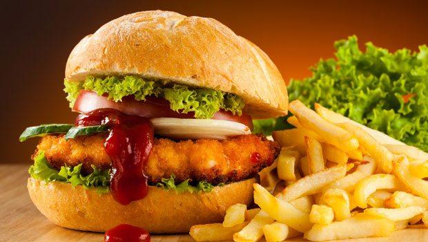 bánh hamburger gà ngon