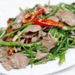 Cách làm món thịt trâu xào rau muống ngon ngay tại nhà