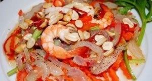 gỏi sứa tôm thịt