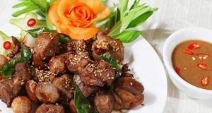 nầm dê nướng sả