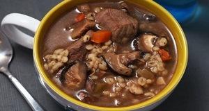 canh nấm thịt bò