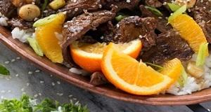 thịt bò sốt cam