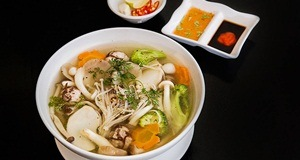 canh thịt cuộn nấm
