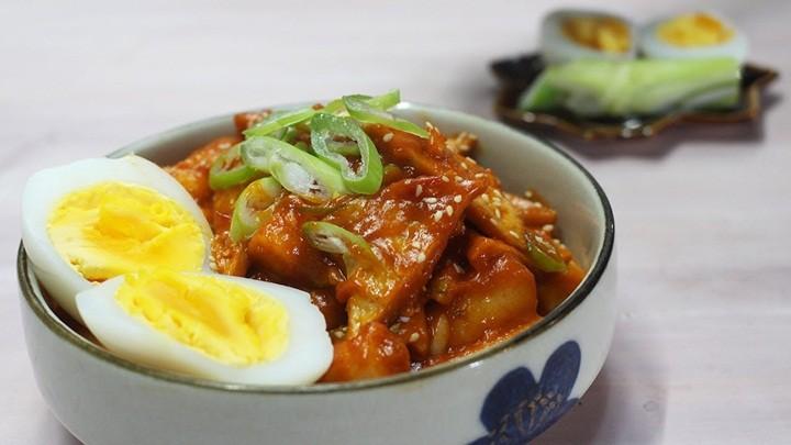 bánh gạo Hàn Quốc xào xì dầu