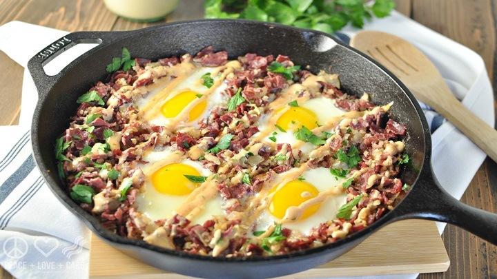 thịt bò xào trứng