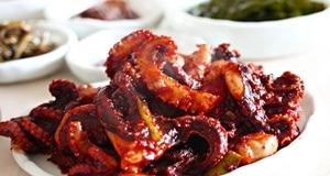 bạch tuộc xào sốt ớt