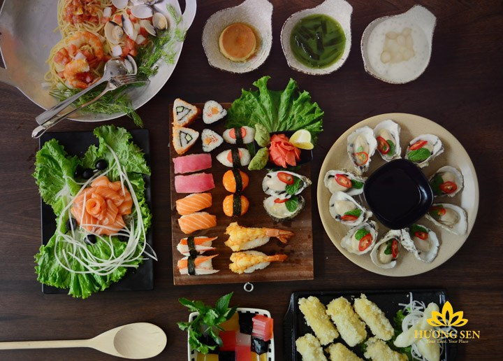 buffet hải sản hấp dẫn