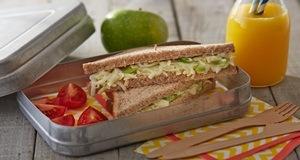 Bữa sáng ngon miệng hơn với bánh mì sandwich táo