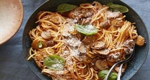 mỳ spaghetti xào nấm
