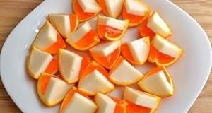 Tráng miệng với thạch cam dẻo dai dai ngọt ngào