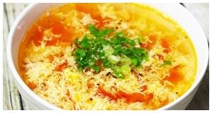 Sưởi ấm ngày se lạnh với món canh trứng cà chua